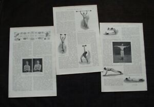 1898 - STRONGMAN EUGEN SANDOW'S SCHOOL OF PHYSICAL CULTURE BODYBUILDING ARTICLE
