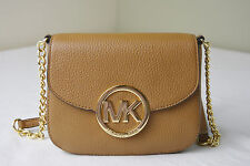 Michael Kors Fulton Acorn Pebble Leather Small Crossbody Bag Purse