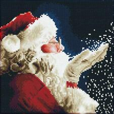 Diamond DOTZ 5d Embroidery FACET Art Kit Santa 30 X 30 Cm Da.51138 Fully Boxed