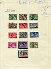 Weeda Nyasaland 54-62 VF MH/MNH/used 1938-1944 King George VI CV $20.95