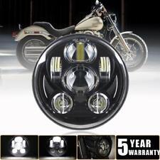 "5.75"" 5-3/4 in LED Headlight Black For Harley Dyna Glide Street Bob/Low Rider XL"