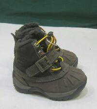 91833M TIMBERLAND MALLARD BROWN SUEDE BLACK FUR WINTER TODDLER  BOOTS size 4