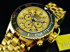Invicta 52MM Subaqua Specialty Gold Dial 18K Gold Plated Stainless Steel Watch