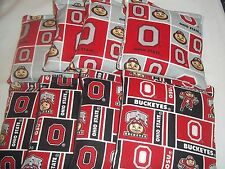 ACA Regulation Corn Hole Bags  Set of 8 - OHIO STATE BUCKEYES ON 2 GREAT PRINTS