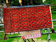 """Tribal utility bag pillow rug 34""""X 18"""" nomad hand-knotted"""