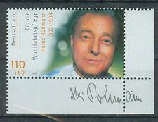 BRD Briefmarken 2000 Filmschauspieler H.Rühmann Ecke Mi.Nr.2146 ** postfrisch