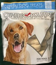 CHECKUPS Dental Dog Treats  Ct 24 Net Weight 48 Oz(Free Expedited Shipping)