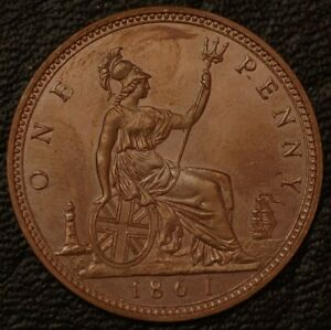 Great Britain Penny 1861 KM# 749.2 1884