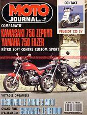 MOTO JOURNAL  992 Essai Road Test YAMAHA FZX 750 Zéphyr KAWASAKI PEUGEOT 125 SV
