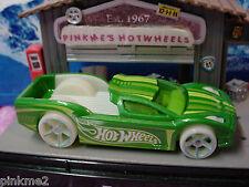 2014 Hot Wheels HYPERTRUCK✿Green w/Glow in Dark Wheels & Int ✿New LOOSE✿Coll #56