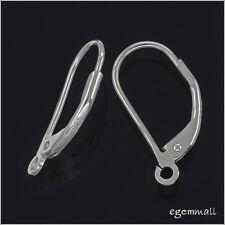 4 Sterling Silver Leverback Earring Earwire with Open Loop 16mm #51235