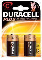 6 Duracell Más C LR14 baterías (3 Doble Packs NUEVO
