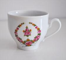 Kaffeetasse Mitterteich / Porzellan mit Blumendekor (Bavaria) / Tasse Kaffee