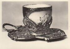 Postkarte - Einsatztasse Porzellan / Meißen um 1770 in Augsburger Silberlassung
