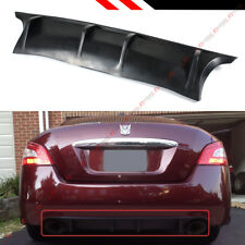 For 2009-2014 7th Gen Nissan Maxima JDM Shark Fin Rear Bumper Diffuser Lip