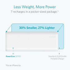 ANKER PowerCore 20100 - Ultra High Capacity Power Bank Most Powerful 4.8A- WHITE