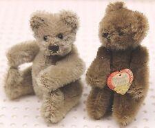 Steiff® 2x Original Teddy 1x mit Schild 50/60er 10 cm