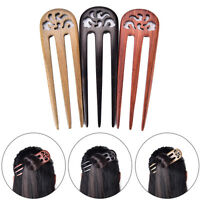"5.70"" Carved Ebony Wooden Sandalwood Hair Pin Stick Original Retro Women Lady HT"