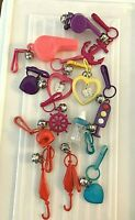 Bell Clip Plastic Charms Lot Of 13 Space Helmet Traffic Light ++1980's VINTAGE