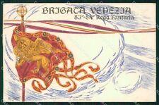 Militari 83º 84º Reggimento Fanteria Brigata Venezia cartolina XF5553