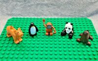 LEGO Duplo Safari Zoo Animal Bundle - Lion, Penguin, Monkey, Panda, Seal