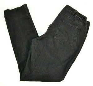 Ruby Rd. Women's Elastic Side Black Jeans w/ Metal Studs 10