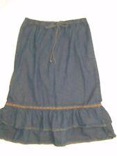 Junior's Xhilaration Brownish Blue Ruffled Denim Skirt Size XL