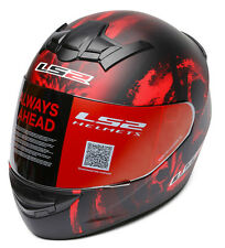 LS2 Helmets - FF352 - Hidden - Black Red - Full Face Imported Motorcycle Helmet