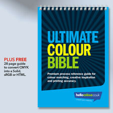 CMYK Colour Swatch Guide + Pantone Matching Book for Creative Graphic Design