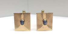 Tiffany & Co. Cufflinks in 14K Gold Sunburst with Star Sapphire center