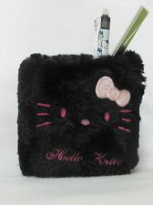 Hello Kitty Pen Stand Holder Soft Case Black Pink Dot BNWT