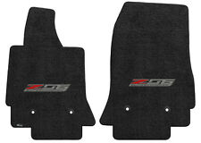 LLOYD LUXE™ Jet Black FLOOR MATS w/logos 2015-17 Corvette Z06 *lifetime warranty