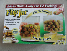 FLIP JAR 2 Pack Kitchen Storage Containers Fridge Keeper AS SEEN ON TV