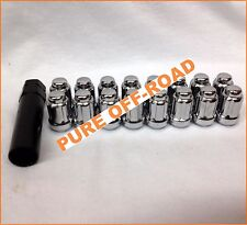 ITP Chrome Lug Nuts (Set 16) 12mm x 1.5 w/ Socket Polaris RZR 900 Models 2015+