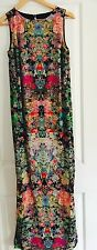 ASOS WOMENS MAXI DRESS SIDE SPLITS FLORAL PRINT LINED WORK PARTY SZ 6