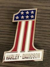 HARLEY DAVIDSON #1 METAL EMBLEM NEW (941)