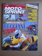 MOTOSPRINT n°9  1989       [Q19] APRILIA TUAREG WIND 600 HONDA VT 600 SHADOW