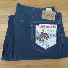 VINTAGE ORIGINAL DENIM LEE RIDERS DEADSTOCK FULL CUT JEANS W46 L32 1970's NOS
