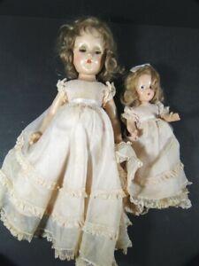 "Vintage 1942 MADAME ALEXANDER 14"" Mother & 9"" Me Original Clothes & Shoes DOLL"