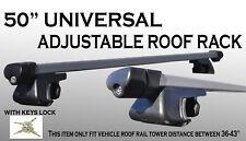 50 inch Aluminum Roof Cargo Rack Fit Top Railing Cross Bars w/ Keys Locks A10