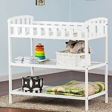 Dream On Me Emily Changing Table White Nursery Wood Storage Furniture