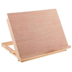 Adjustable Wood Art Drawing Board Table Canvas Workstation Sketch Desk Easel