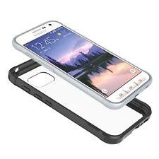 Prism Series Slim-Fit Transparent Bumper Case for Samsung Galaxy S7 Active Black