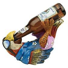 Tip it on Back Tropical Island Parrot Beer Bottle Holder Bar Pub Pool Sculpture
