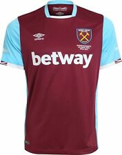 WEST HAM UNITED 2016/2017 HOME FOOTBALL SHIRT JERSEY UMBRO SIZE S ADULT
