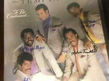 "The Temptations "" To Be Continued "" 12"" record autographed"