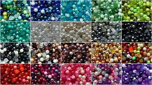 BUY 3 GET 3 FREE 400 4mm, 200 6mm or 100 8mm Bead Mix inc. Pearl Crackle etc...