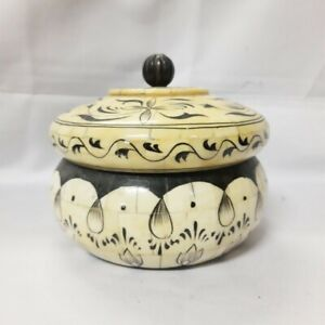 Made to Order Real Bone Inlay Designer Luxury Pot Gift storage