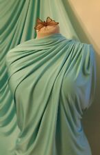 AQUA Green 4 Way Stretch Silky Jersey Lycra Spandex Fabric Dress Prom Dance 60""
