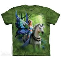 Realm Of Enchantment T-Shirt by The Mountain. Horse Angel Unicorn Sizes S-5X NEW